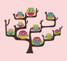 Rainbow Owls Kids Clothes