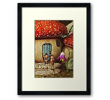 The Mushroom House Framed Print