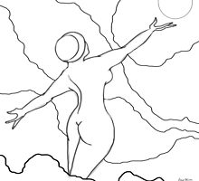 Free Spirit Digital Line drawing by Grant Wilson