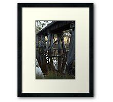 Old Rail Bridge Cavendish Victoria  Framed Print