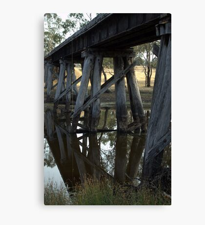Old Rail Bridge Cavendish Victoria  Canvas Print