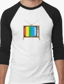 Retro TV Men's Baseball ¾ T-Shirt