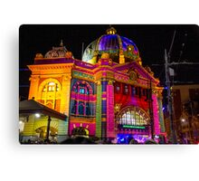 Our Flinders Street Station looking all Prettied up Canvas Print