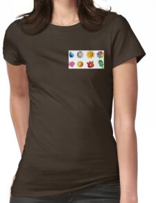 pokemon kanto badges Womens Fitted T-Shirt