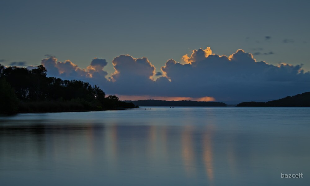 Sunset Lake Macquarie by bazcelt