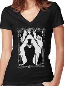 Dr. Caligari Women's Fitted V-Neck T-Shirt