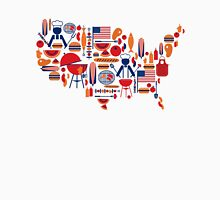 America's Map Celebration Patriotic BBQ T-Shirt Unisex T-Shirt