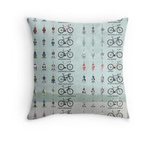 Pro Cycling Teams Throw Pillow