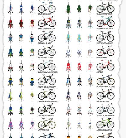Pro Cycling Teams Sticker