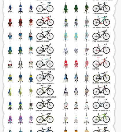 Pro Cycling Teams Sticker