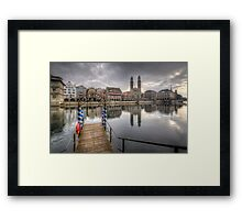 Limmat River Reflections Framed Print