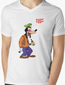 Booze Goofy Mens V-Neck T-Shirt