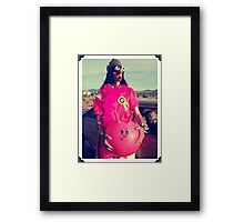Space Hopping Fool Framed Print
