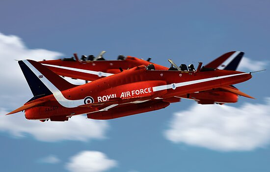 The Red Arrows Synchro Pair by J Biggadike