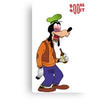 Booze Goofy Canvas Print