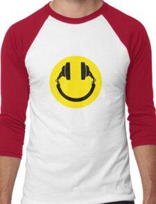 Smiley headphones Men's Baseball ¾ T-Shirt