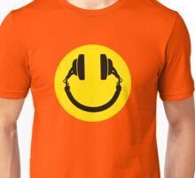 Smiley headphones Unisex T-Shirt