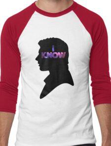 Star Wars Han 'I Know' Black Silhouette Couple Tee Men's Baseball ¾ T-Shirt