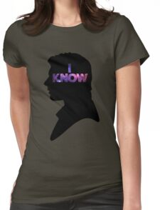 Star Wars Han 'I Know' Black Silhouette Couple Tee Womens Fitted T-Shirt