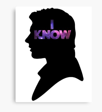 Star Wars Han 'I Know' Black Silhouette Couple Tee Canvas Print
