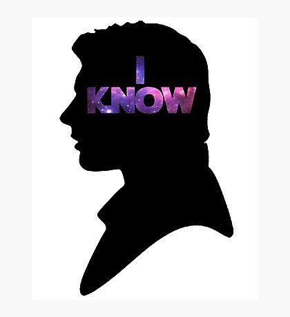 Star Wars Han 'I Know' Black Silhouette Couple Tee Photographic Print