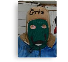 Griz' Winter Hat Canvas Print