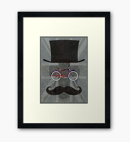 Bicycle Head Framed Print