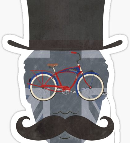 Bicycle Head Sticker