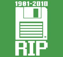 RIP Floppy Disk - 1981-2010 by TeesBox