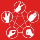 Rock Paper Scissors Lizard Spock by TeesBox