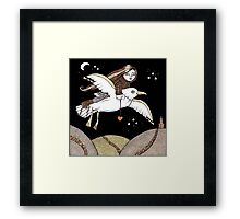 Frannies Flight Tee Framed Print