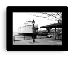 Anchored Park City Ferry To Bridgeport, Connecticut - Port Jefferson, New York Canvas Print