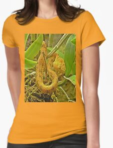 Eyelash viper  Womens Fitted T-Shirt