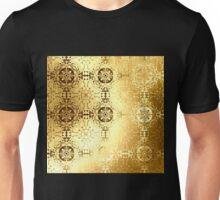 Golden oriental pattern Unisex T-Shirt