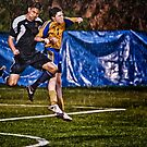 Soggy Soccer Action by Jim Haley