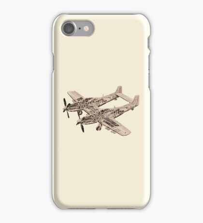 WWII Mustang Plane iPhone iPhone Case/Skin