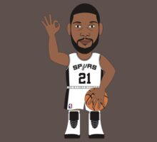 NBAToon of Tim Duncan, player of San Antonio Spurs by D4RK0