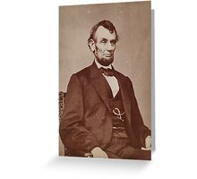 Brady photograph of Abraham Lincoln Greeting Card