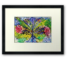 Contemporary Abstract Diptych Framed Print