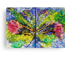 Contemporary Abstract Diptych Canvas Print