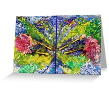 Contemporary Abstract Diptych Greeting Card