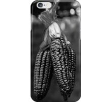 Purple maize, in black and white iPhone Case/Skin