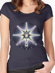 Purple Space Women's Fitted Scoop T-Shirt