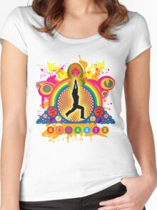 Namaste T-Shirt Women's Fitted Scoop T-Shirt