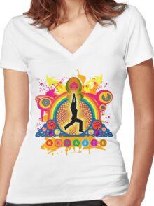 Namaste T-Shirt Women's Fitted V-Neck T-Shirt