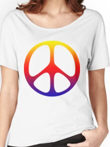 Peace Symbol T-Shirt  Women's Relaxed Fit T-Shirt