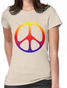 Peace Symbol T-Shirt  Womens Fitted T-Shirt