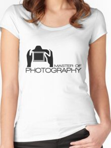 Master Of Photography T-Shirt Women's Fitted Scoop T-Shirt