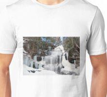Receding Ice At Ganoga Falls Unisex T-Shirt