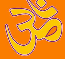 Om Symbol T-Shirt-2 Sticker